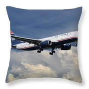 Us Airways A330-200 N280ay Throw Pillow