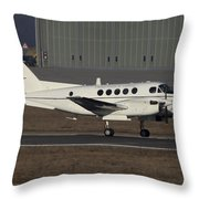 U.s. Army C-12 Huron Liaison Aircraft Throw Pillow