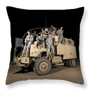 U.s. Army Medical Personnel Pose Throw Pillow