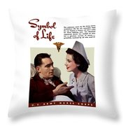 Us Army Nurse Corps Throw Pillow