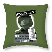 Vintage Us Army Recruiting Poster Throw Pillow