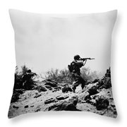 U.s. Army Soldier Throw Pillow