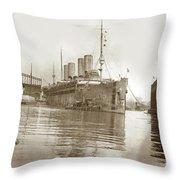 U.s. Army Transport Uss Mount Vernon 1917-1919 Throw Pillow