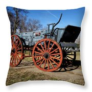 Us Buckboard Wagon Throw Pillow
