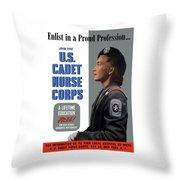 Us Cadet Nurse Corps - Ww2 Throw Pillow