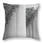 United States Capital Columns Throw Pillow