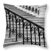United States Capital Steps Throw Pillow