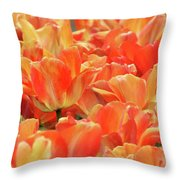 United States Capital Tulips Throw Pillow