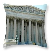 Us Capitol - Back Side Throw Pillow