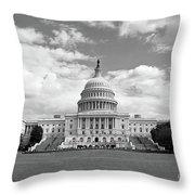 Us Capitol Building Washington Dc Throw Pillow