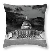 Us Capitol Washington Dc Negative Throw Pillow