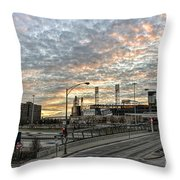 Us Cell Sunset Throw Pillow