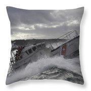 U.s. Coast Guard Motor Life Boat Brakes Throw Pillow