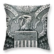 Us Dollar Eagle Throw Pillow