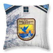 Us Fish And Wildlife Service Sign  3931 Throw Pillow