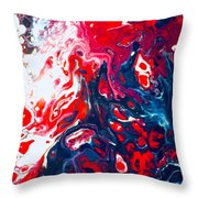 Us Flag Is Waving Throw Pillow