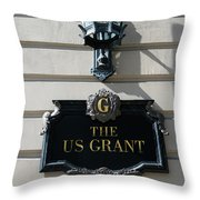Us Grant Corner Plaque Throw Pillow