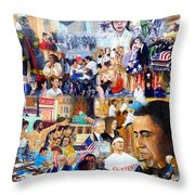 Us History The First Ten Years 21st Century Throw Pillow