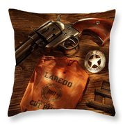 Us Marshal Laredo Throw Pillow