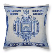 Us Naval Academy Postage Stamp Throw Pillow