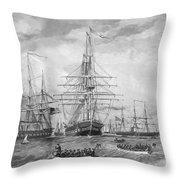 U.s. Naval Fleet During The Civil War Throw Pillow