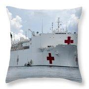U.s. Naval Hospital Ship Usns Mercy Throw Pillow
