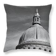 U.s. Naval Academy Chapel Dome Bw Throw Pillow
