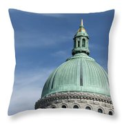 U.s. Naval Academy Chapel Dome Throw Pillow