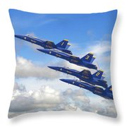 Us Navy - Blue Angels Throw Pillow