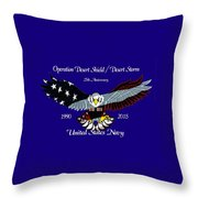 Us Navy Desert Storm Throw Pillow