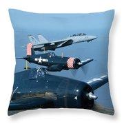 Us Navy Lagacy Flight  Throw Pillow