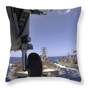 U.s. Navy Petty Officer Leans Throw Pillow