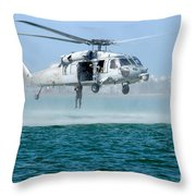 U.s. Navy Sh-60s Sea Hawk Helicopter Throw Pillow