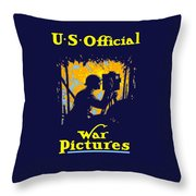 U.s. Official War Pictures Throw Pillow