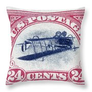 U.s. Postage Stamp, 1918 Throw Pillow