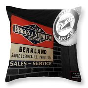 Us Route 66 Briggs And Stratton Signage Sc Throw Pillow