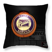 Us Route 66 Buick Sales Globe 02 Sc Throw Pillow