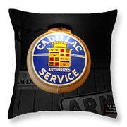 Us Route 66 Cadillac Service Globe Sc Throw Pillow