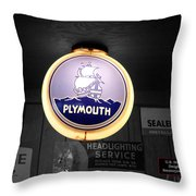 Us Route 66 Plymouth Sales Globe Sc Throw Pillow