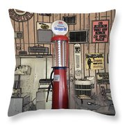 Us Route 66 Smaterjax Dwight Il Gas Pump 01 Pa 02 Throw Pillow
