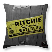 Us Route 66 Smaterjax Dwight Il Rare Waterers Signage Throw Pillow