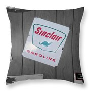 Us Route 66 Smaterjax Dwight Il Sinclair Gasoline Signage Throw Pillow