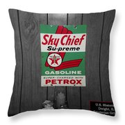 Us Route 66 Smaterjax Dwight Il Sky Chief Supreme Signage Throw Pillow