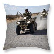 U.s. Soldiers Perform Maneuvers Throw Pillow