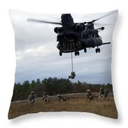 U.s. Soldiers With The 7th Special Throw Pillow