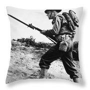 U.s World War II Infantry, 1942 Throw Pillow