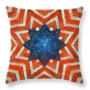 Usa Abstract Throw Pillow