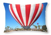 Usa Balloon Throw Pillow