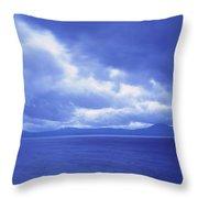 Usa, California, Lake Tahoe, Storm Throw Pillow