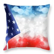 Usa Circles Throw Pillow